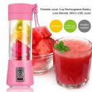 Maheswara Store USA Portable Blender USB Juicer Cup Fruit Mixing Machine Rechargeable Bottle 380ML P