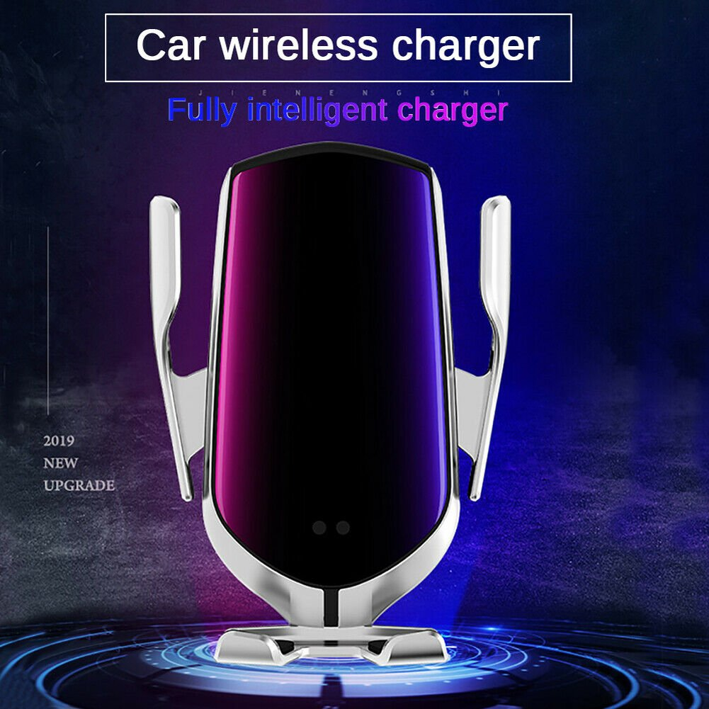 Maheswara Store USA 10W Wireless Automatic Clamping Smart Sensor Car Phone Holder Fast Charger A+ Si