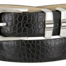 "Kaymen Italian Calfskin Leather Designer Dress Golf Belts for Men 1-1/8"" Wide Size 36 Alligator Blac"