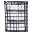Guarantee CHUM BOX marine grade pvc coating black wire mesh pot fishing bait cage 12x8x4