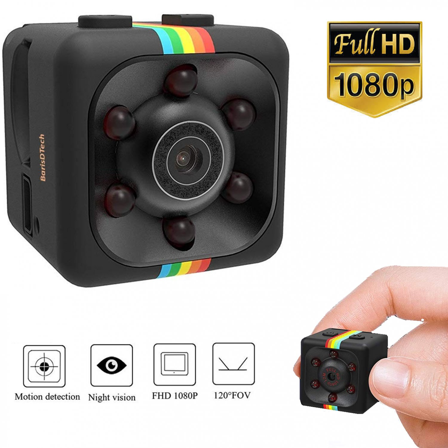 Mini Hidden Spy Camera Full HD 1080P Motion Detection Night Vision Dash Nanny Camera