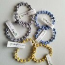 TRRTLZ Frogz  lot of 6 bracelets blue gray yellow colors