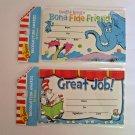 Dr. Seuss Recognition Awards Great Job! Bona Fide Friend 2packs/ 18 each