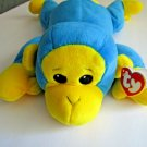 """Ty PILLOW PAL SWINGER BLUE MONKEY MINT and RARE YEAR 1998 15"""""""