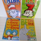 Dr. Seuss 2-Sided 4 Posters Think Try Something New, Be Kind True Its Better