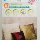 Delta disposable peel & stick stencils ROSE  #930030505 1 pack of 10