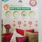 Delta disposable peel & stick stencils BURST #930130505 1 pack of 10