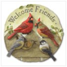 """Welcome Friends"" Garden Plaque"