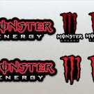 Monster Energy Red Assault Racing Bike, Car, Yamaha, Kawaskai, Moto Sticker Set X 6