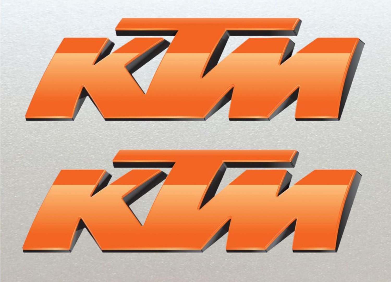 2 X large KTM Cutout Stickers for Fairing, Tank, Wheels etc, (Laminated high Quality) 21cm