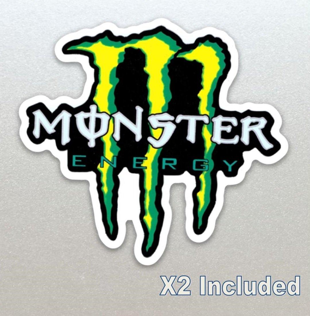 2 X Monster Energy Racing Callout Stickers, Car, Motor Bike, Car, Yamaha, Kawaskai, Moto