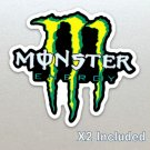 2 X Monster Energy Racing Callout Stickers, Car, Motor Bike, Car, Yamaha, Kawaskai, Moto