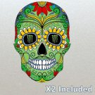 2 X Monster Energy Sugar Skull Stickers For Helmet, Bike, Kart, Car, Boards etc One off! (9cm)