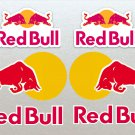 Red Bull Motor Bike, Car Moto Kart Helmet Stickers Set x 6 12cm White Background