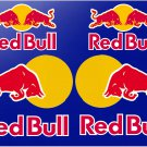 Red Bull (Large 15cm Set) Srickers x6 With No Background design, Motor Bike, Car Moto Helmet -