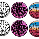 Rip Curl, Surf Board, Car, Bike, Scooter Stickers Set X 6 (Laminated)
