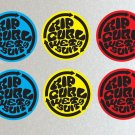 Rip Curl Iconic Rotation Mixed, Surf Board, Car, Bike, Scooter Stickers Set X 6 (Laminated)