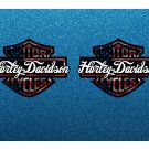 Harley Davidson USA Bar & Shield, Custom Logo Stickers x 2 Included, (Laminated) High Quality