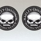 Harley Davidson Motorcycles Skull Stickers x 2 Included, (Laminated) Water Resistant 100mm Diameter