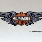 Harley Davidson Wings Large 210mm Orange, Black & White Logo Stickers x 2 Included, Laminated