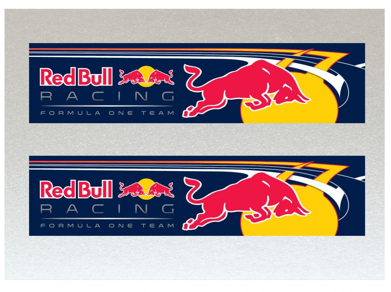 Large Red Bull Graphic Formula One (F1) Racing Flow Graphic Car Van Etc Stickers x 2 (200mm)