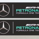 Mercedes Petronas Formula One (F1) Racing Car Van RC Etc Stickers 2x Included (125mm)