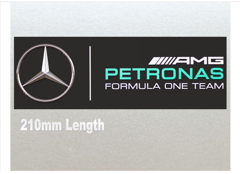 Xtra Large - Mercedes Petronas Formula One (F1) Racing Car Van RC Etc Sticker (210mm Length)