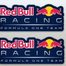 Xtra Large Red Bull Formula One (F1) Racing Blue Background Car Van Etc Stickers 2 x 125mm)