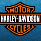 Harley Davidson Orange, Black and White Logo Stickers x 2 Included, Laminated, 120mm - High Quality