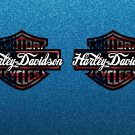 Harley Davidson USA Bar & Shield, Custom LogoStickers x 2 Included  (120mm) - High Quality