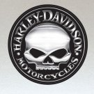 Harley Davidson Motorcycles Skull Stickers x 2 Included, (Laminated) 100mm Diameter- High Quality