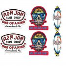 Ron Jon Surf Board Stickers Set X6 (Laminated) Water Resistant (Day of the Dead)
