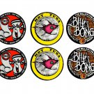 Set of 6 Surf Logo Stickers, 3 Iconic Brands, Hot Tuna, Bilabong and Mr Zoggs Skate/Sex Wax