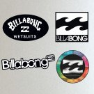 Billabong, Surf Board, Car, Bike, Van, Scooter Stickers Set X 4 (Laminated), Car, Board, Van etc.