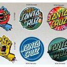 Santa Cruz Board Stickers Set X6 (Laminated) Water Resistant Includes Screaming Hands & Mermaid