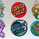 Santa Cruz V3 Board Stickers Set X6 Includes Rick and Morty & Original, Party and Hands, Unique Set