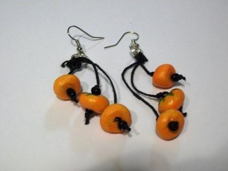 CLEARANCE Pumpkin Dangle Earrings