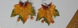 CLEARANCE Leaf Earrings- yellow
