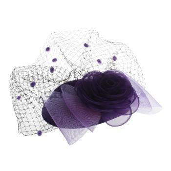WOMEN'S CLOTH FLOWER MINI HAT HAIR FASCINATOR ACCESSORY