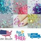 Irregular  Holographic Glitter Multi Colors Nail Glitter Art Acrylic Gel