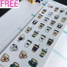PP293 -- Iced Coffee Cups Life Planner Stickers for Erin Condren