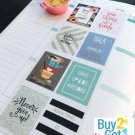 PP145 -- Inspiration Quotes Planner Stickers for Erin Condren