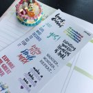 PP492 -- Inspiration Quote Planner Stickers for Erin Condren, Happy Planner
