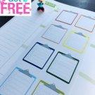 PP050 -- Rainbow Clip Board Planner Stickers for Erin Condren