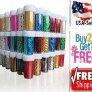 B: 60 Colors Nail Art Tips Wraps Transfer Foil *US SELLER* BUY2GET1FREE