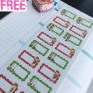 PP393 --  Christmas Elf Half Boxes Life Planner Stickers for Erin Condren