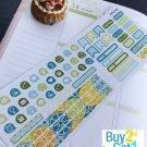 PP475E -- Lemonade Picnic Functional Icons Planner Stickers for Erin Condren