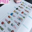 PP394 --  Christmas Planning To Do List Planner Stickers 4 Erin Condren