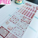 PP407D -- Pink Valentine Day Boxes Icons Life Planner Stickers for Erin Condren