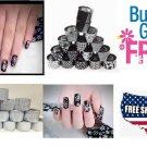32 Colors Black + White Nail Art Wraps Transfer Foil *BUY 2 GET 2 FREE